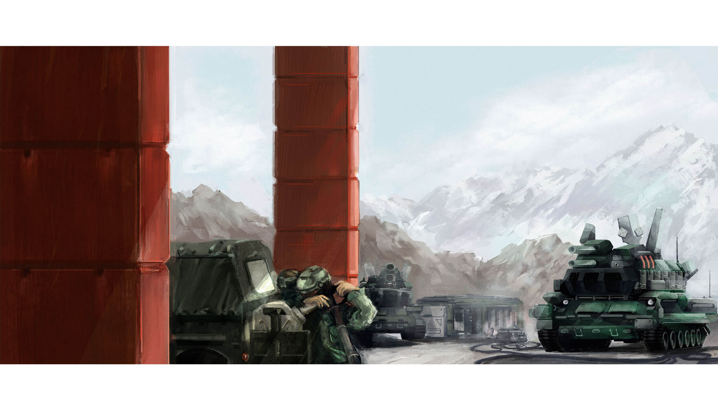 Military Based conceptual digital painting