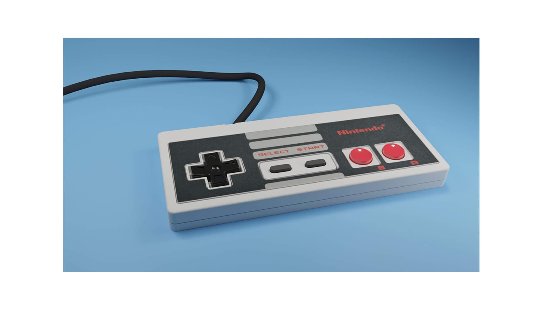 Nintendo NES Controller in 3D